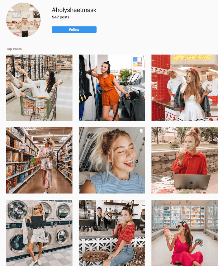 Branded Hashtags on Instagram - Sephora - Sked Social