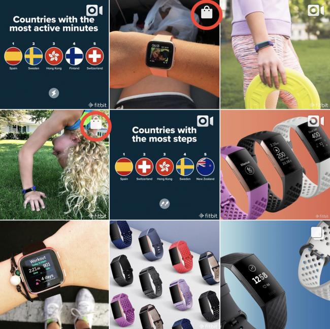 Instagram E-commerce Sales FitBit Example