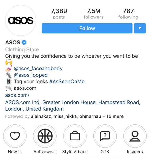 Instagram E-commerce Sales ASOS Example