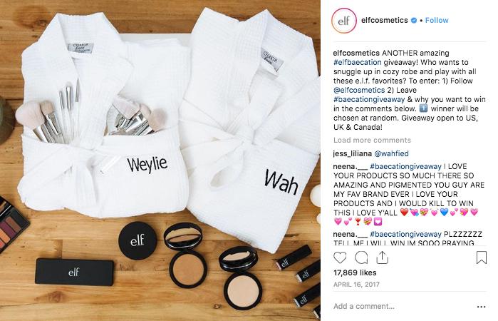 Instagram Ecommerce Sales Elf Cosmetics Example