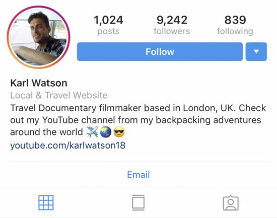 Instagram-micro-influencer-karl-watson-example