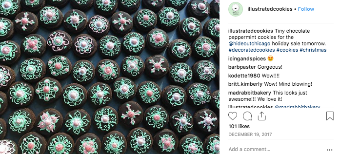 Instagram-micro-influencer-illustrated-cookies-example