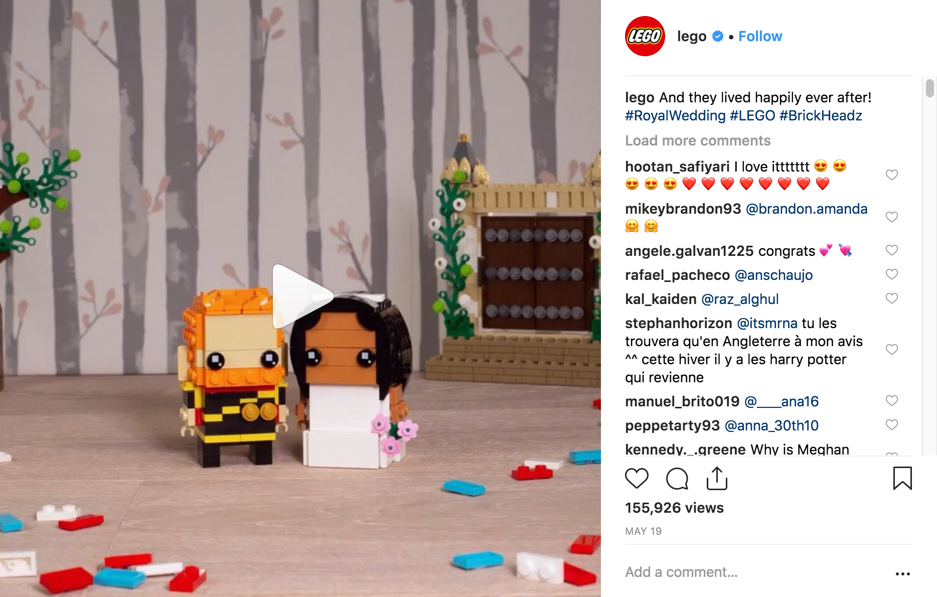 Best Instagram Campaigns 2018 - Lego - Sked Social