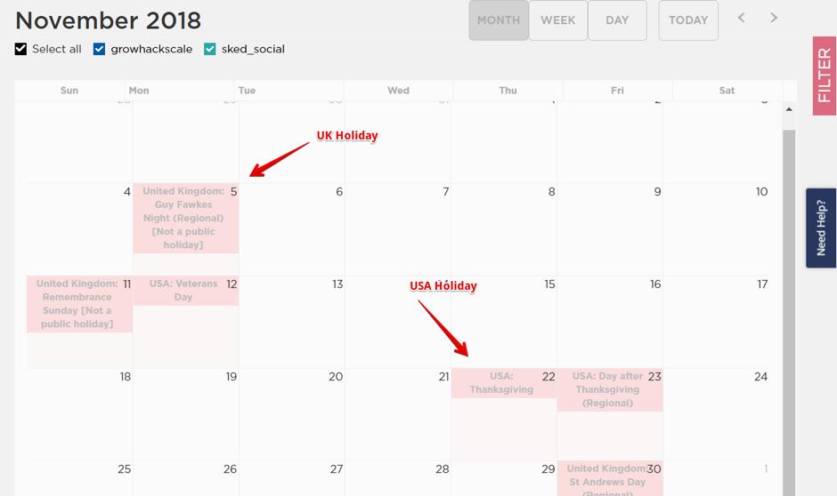 Social Media Posting Schedule - Sked Social