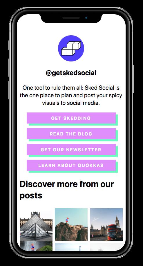 Sked Link - Link in bio tool