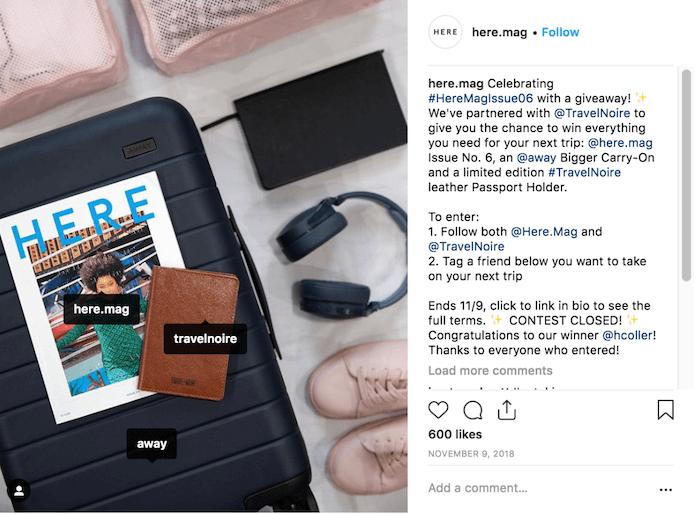 Travel Brands on Instagram - Here Mag - Sked Social