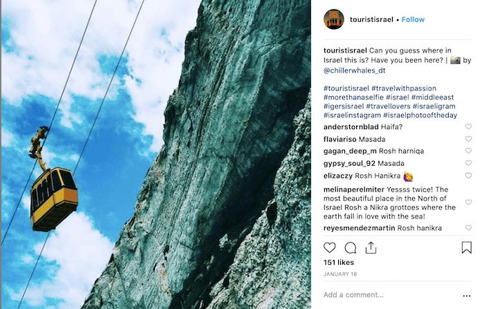 Travel Brands on Instagram - Tourist Israel 1 - Sked Social