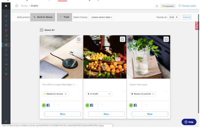 Instagram Approval Process - Google Docs Images Schedule - Sked Social