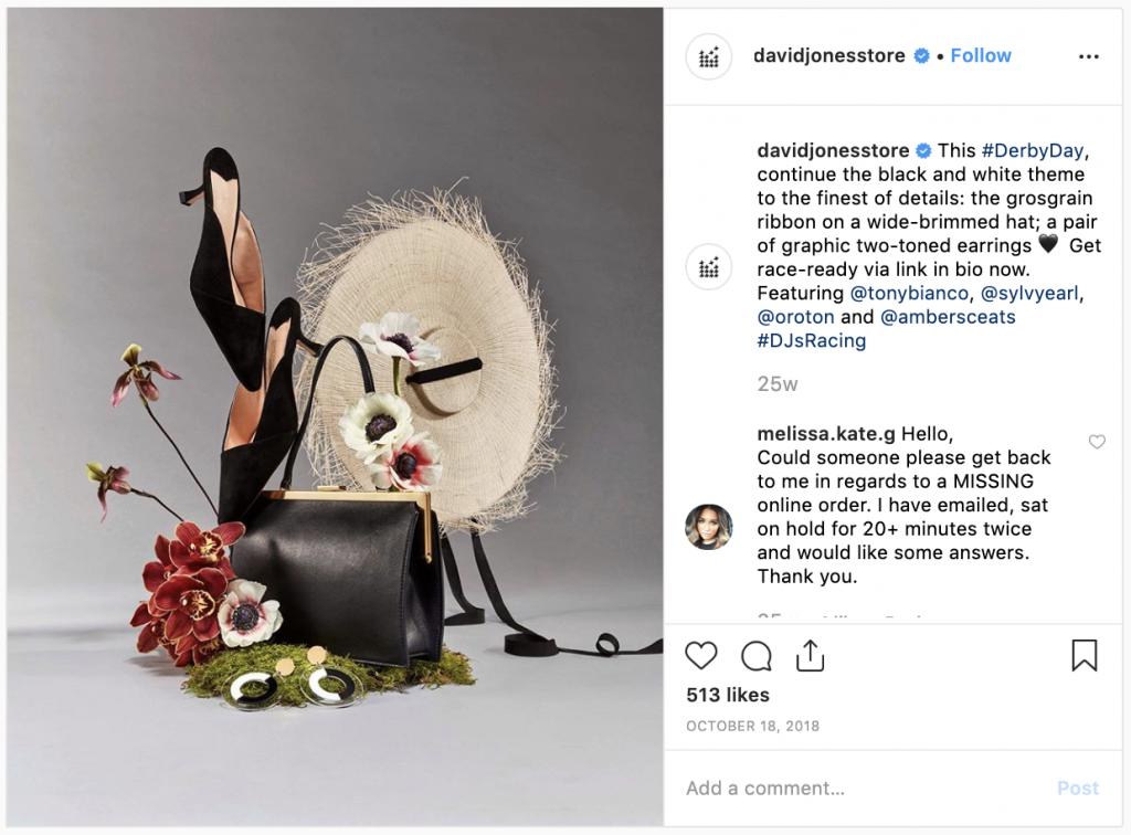 Fashion brands on Instagram- David Jones - Sked Social