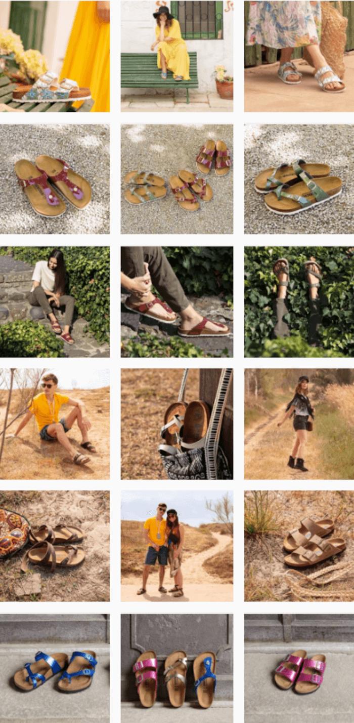 Instagram Themes - Birkenstocks - Sked Social