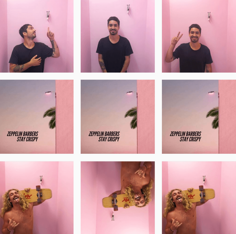 Instagram Themes - Zeppelin Barbers - Sked Social