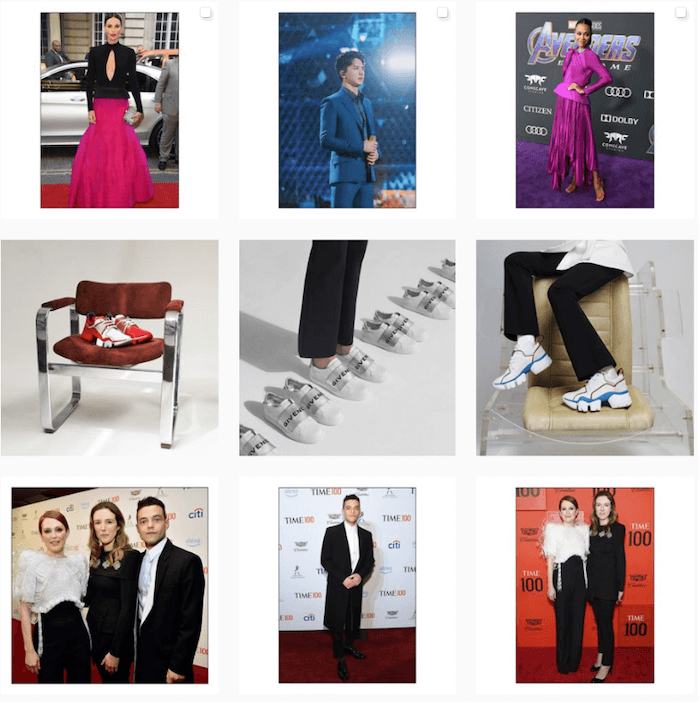 Instagram Themes - Givenchy - Sked Social