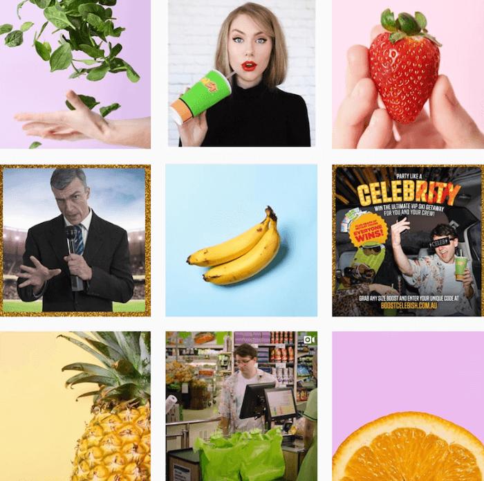 Instagram Themes - Boost Juice - Sked Social