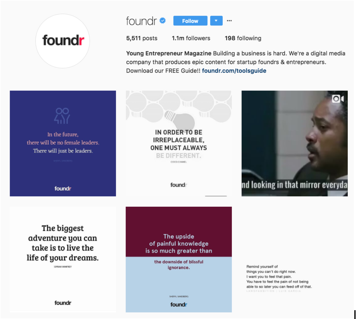foundr brands killing it on instagram