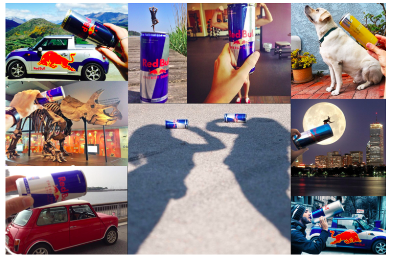Red Bull creates viral social media campaigns, encouraging users to share images of the brand's products-how-to-engage-your-instagram-followers