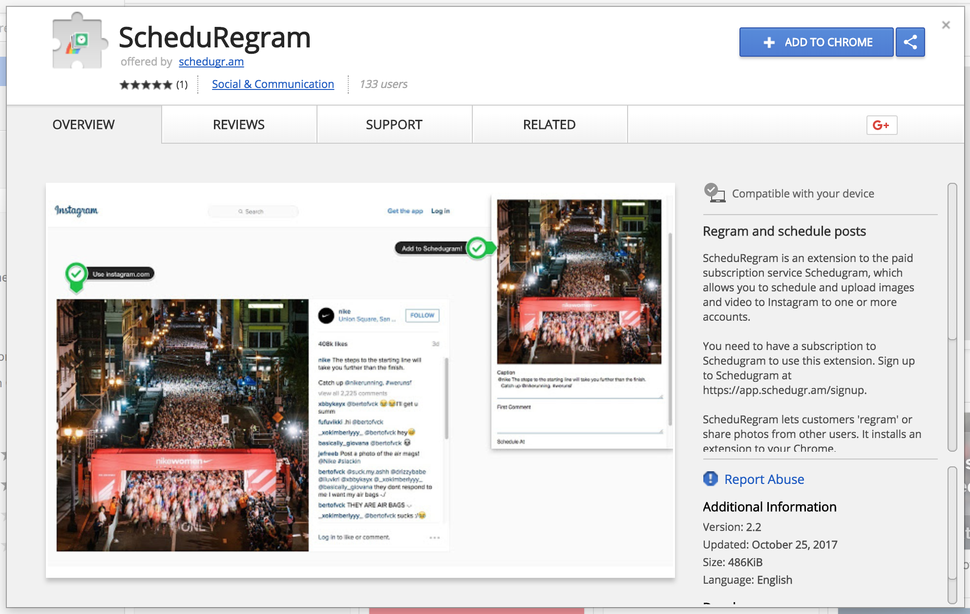 How to make a repost instagrame