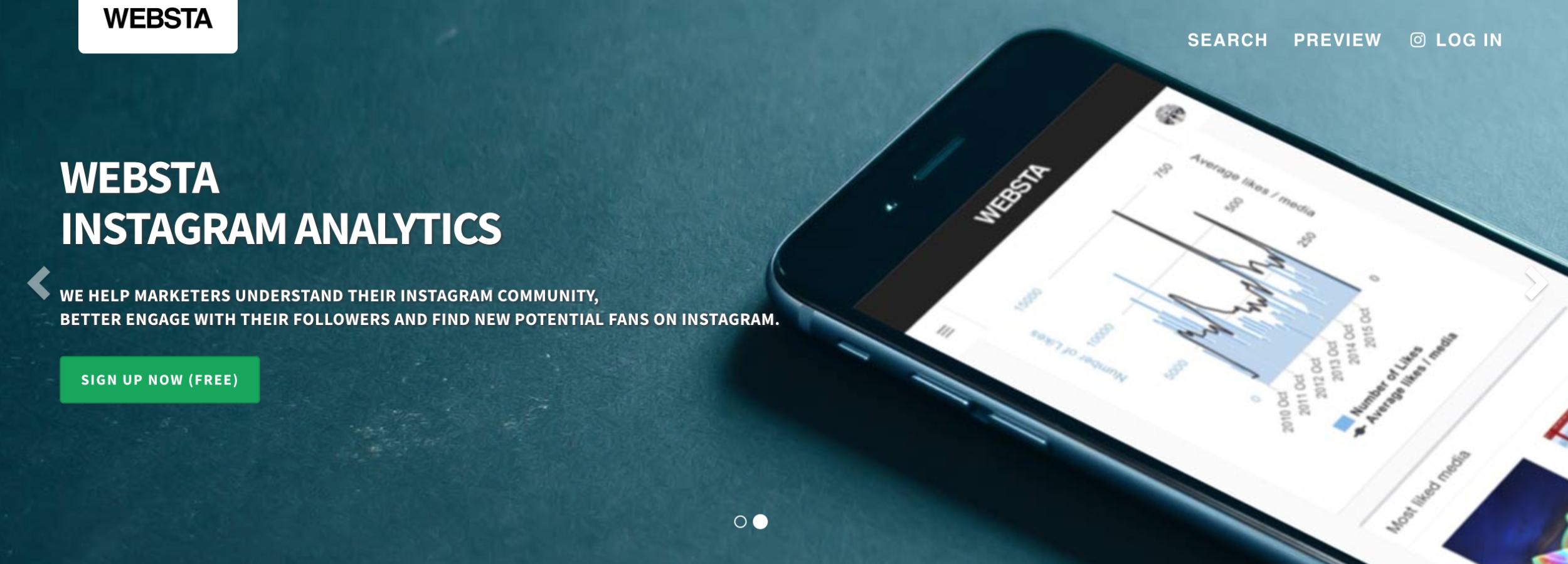 websta - instagram analytics tools