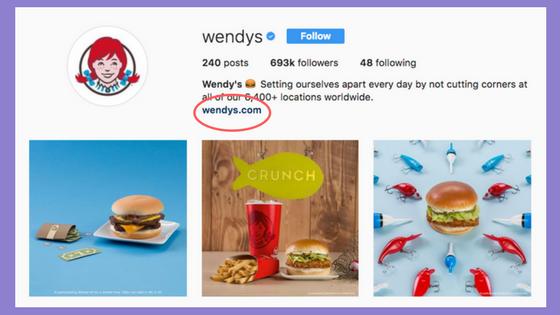 links in your Instagram bio