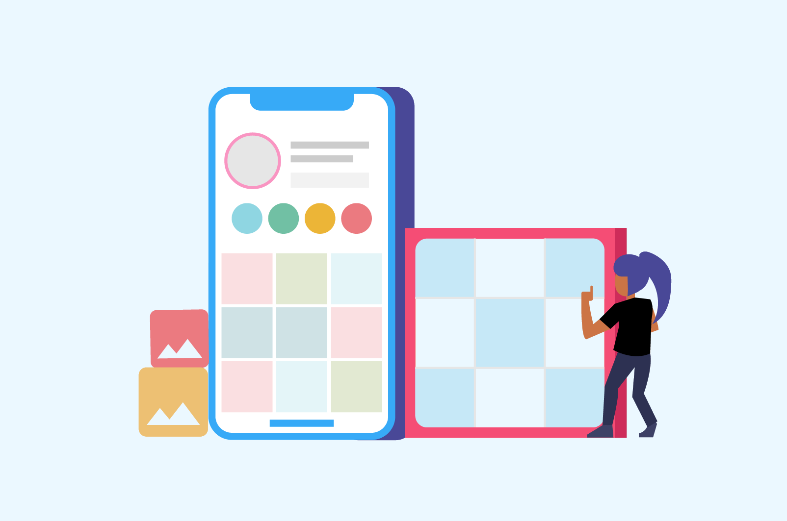 Grid Layout App For Instagram Planning 9 Creative Grid Ideas Sked