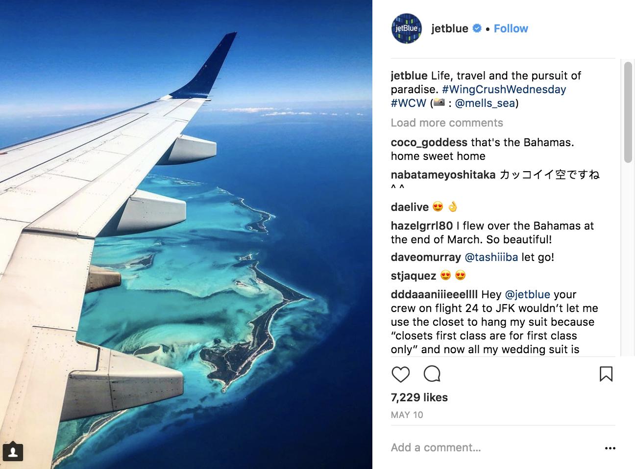 jetblue-instagram-marketing-strategy
