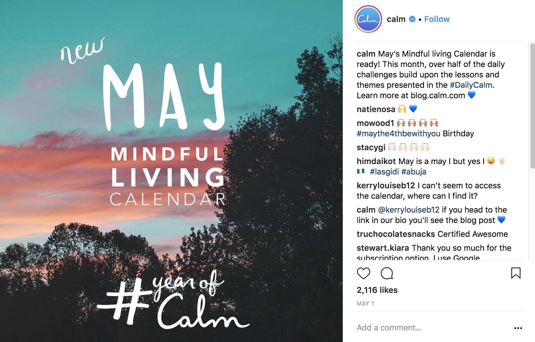 calm-instagra-marketing-strategy