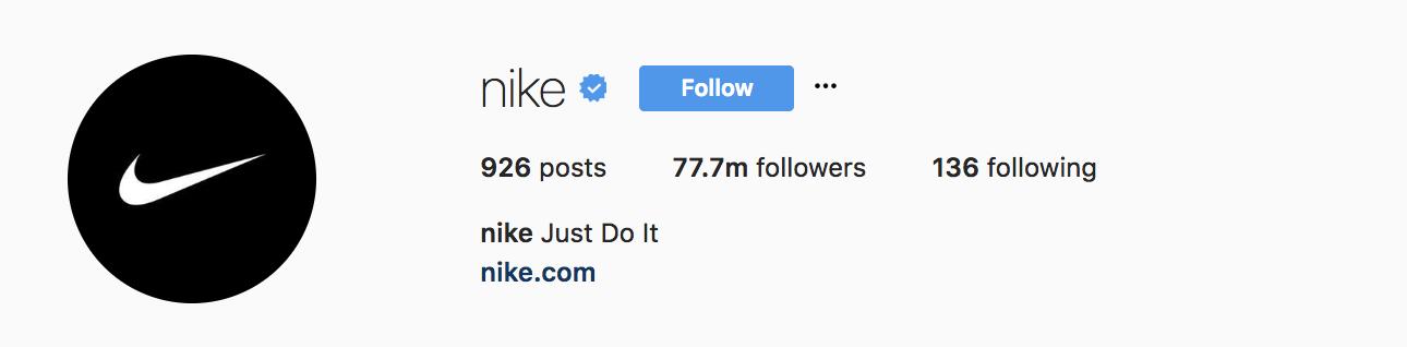 nike-instagram-bio-example